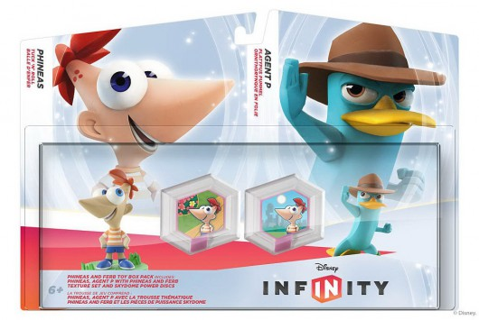 Phineas and Ferb Toy Box Pack (Phineas, Agent P) - Packaging